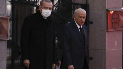 Sürpriz görüşmeyle ilgili dikkat çeken senaryolar! Erdoğan ile Bahçeli ne konuştu?