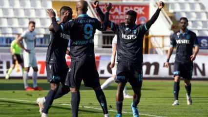 Trabzonspor deplasmanda moral buldu!