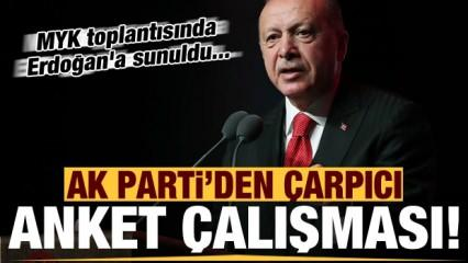 AK Parti'den dikkat çeken anket! MYK'da Başkan Erdoğan'a sunuldu...