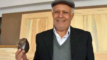 2 yıl önce bahçesinde buldu! Çelik kasada sakladığı göktaşı Türkiye'nin 16'ncı...