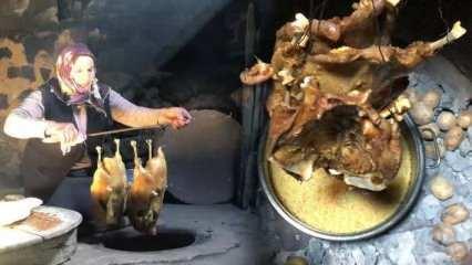 Kars'ın geleneksel lezzeti: Tandırda kaz!