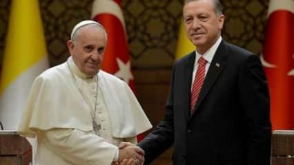 Irak ziyareti sona eren Papa'dan Erdoğan'a telgraf