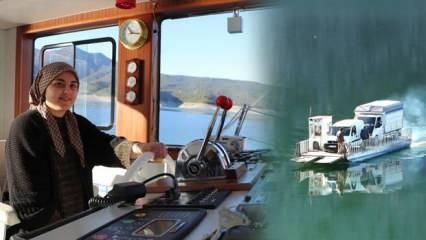 Samsun'da feribot kullanan 18 yaşındaki genç kızı görenler şaşırıyor!