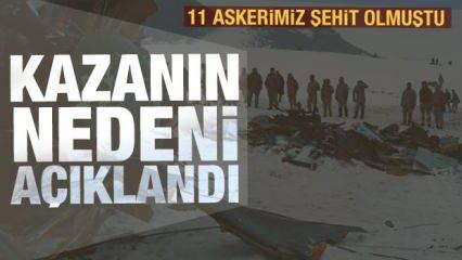 Son dakika: Bitlis'teki helikopter kazasının nedeni açıklandı