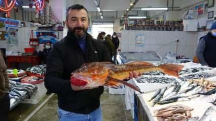 Uzun süredir tezgahta görülmeyen kırlangıç balığı  av sezonu biterken Trabzon'da ortaya çıktı!
