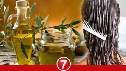 Zeytinyağı maskesi saçı gürleştirir mi? Saça zeytinyağı sürmek ne işe yarar?