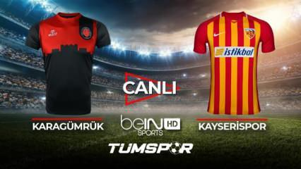 Karagümrük Kayserispor maçı canlı izle! | BeIN Sports Karagümrük Kayseri maçı canlı skor takip