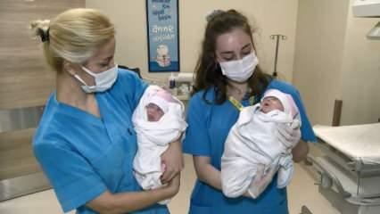 Koronavirüslü anneden koronalı doğan prematüre ikiz bebekler 2 ay sonra annelerine kavuştu!