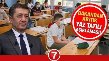 Ziya Selçuk'tan kritik açıklama! MEB yaz tatilini iptal mi edecek? 2 Temmuz telafi eğitimi...