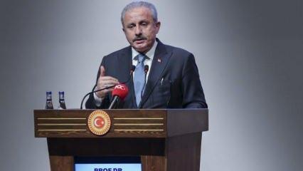 Meclis Başkanı Şentop'tan HDP'ye kapatma davasına ilişkin açıklama