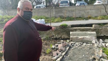 Sarıyer Belediyesi'nden yaşlı çifte 'balyozlu' bahçe operasyonu!