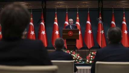 Son dakika... Kritik Kabine Toplantısı sonrası Başkan Erdoğan 81 il için alınan kararı açıkladı