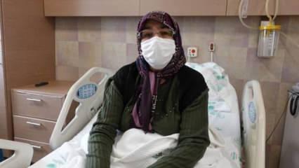Ailesi ümidi kesti ama 60 yaşındaki kadın kovid-19 ve kısmi felci yenerek sağlığına kavuştu!