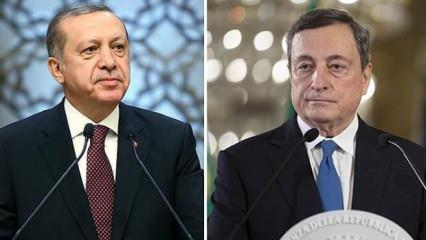 Başkan Erdoğan, İtalya Başbakanı Mario Draghi ile görüştü