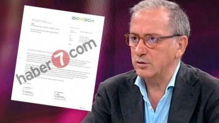 Habertürk Yazarı Fatih Altaylı'ya Bakan Koca'dan belgeli yalanlama!