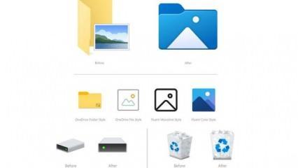 Microsoft'tan yenilikçi güncelleme: Windows 10 Dosya Gezgini simgeleri değişti