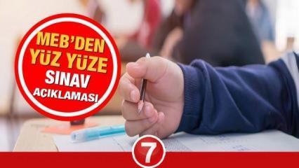 MEB ortaokul 5,6,7,8. sınıf sınavları ne zaman yapılacak? 2021 yüz yüze sınavlar ertelenir mi?