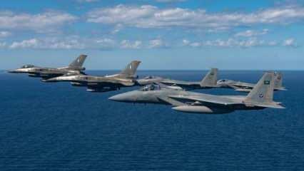 Suudi Arabistan'a ait savaş uçakları Yunan jetleriyle Doğu Akdeniz'de uçtu