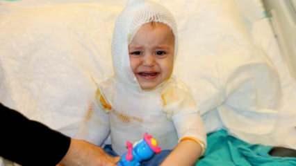 Erzincan'da 1 yaşındaki çocuğun üzerine kaynar süt döküldü! Çocuk feci şekilde yandı