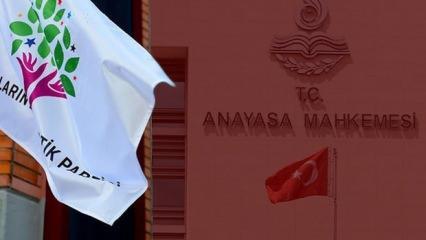 AYM, HDP iddianamesini iade etti! Peki şimdi ne olacak, işte atılacak adımlar