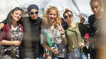 DEAŞ'lı kadınların 'bizi Avrupa'ya alın' pozu