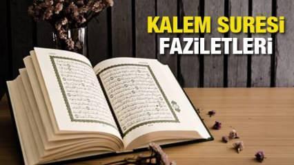 Kalem Suresi Arapça okunuşu ve Türkçe meali