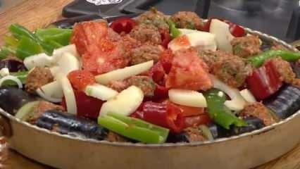 Patlıcan kebabı nasıl yapılır? Kuzu kıymalı patlıcan kebabı tarifi...