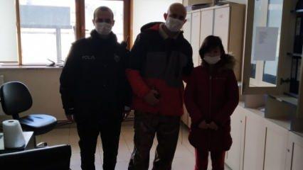 11 yaşındaki Liva Nur bulduğu para dolu cüzdanı polise teslim etti