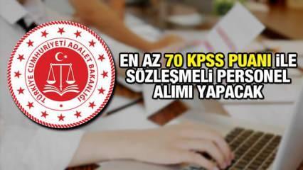 KPSS 70 puan ile Adalet Bakanlığı personel alım ilanı! Son başvuru ne zaman?