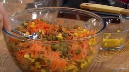 Cevizli ve tereyağlı salata nasıl yapılır?  Yoğurtlu mercimek salatası tarifi...