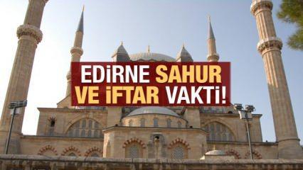 Edirne İmsakiye 2021 : Diyanet Edirne sahur saatleri ve iftar vakti