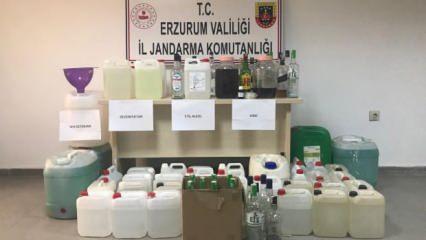 Erzurum'da sahte alkol ve dezenfektan operasyonu: 1 gözaltı