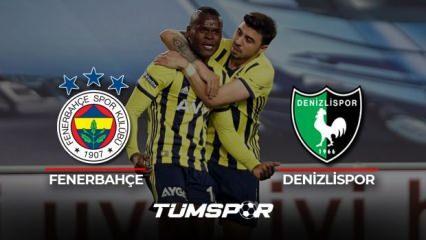 Fenerbahçe Denizlispor maçı geniş özeti ve golleri! (BeIN Sports) Kanarya evinde galip!