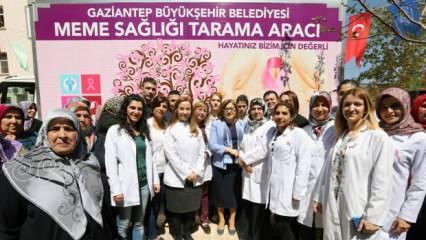 Gaziantep Büyükşehir Belediyesi kansere karşı tarama ve eğitim çalışmalarını sürdürüyor