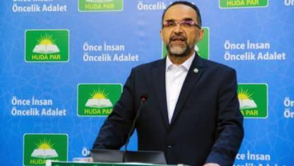 HÜDA PAR'dan 'bildiri' açıklaması