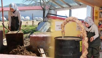 Ispartalı kadın girişimci tezekten biyogaz üretiyor!