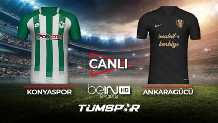 Konyaspor Ankaragücü maçı canlı izle! BeIN Sports Konya Ankara maçı canlı skor takip!