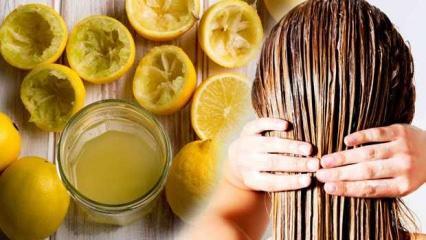 Limonun saça faydaları nelerdir? Limon saç dökülmesini önler mi?