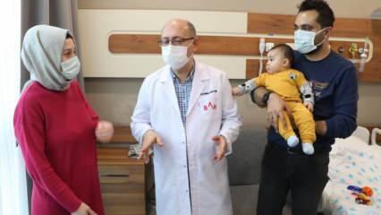 Samsun'da 6 aylık bebeğin karnından portakal büyüklüğünde kist çıkarıldı