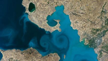 Van Gölü'nün uzaydan çekilen görseli final için iddialı