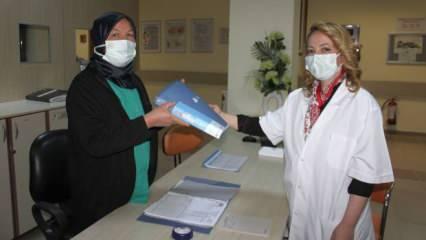 Hemşire annenin kızıyla aynı hastanede çalışma hayali gerçek oldu!
