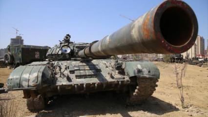 Azerbaycan, 2. Karabağ Savaşı'nda ele geçirdiği Ermenistan silahlarını sergiledi!