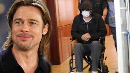 Brad Pitt'in tekerlekli sandalyedeki fotoğrafları korkuttu!