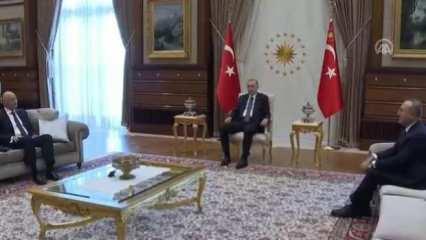 Cumhurbaşkanı Erdoğan Yunan bakanı kabul etti
