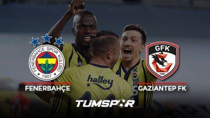 Fenerbahçe Gaziantep FK maçı geniş özeti ve golleri (BeIN Sport) Kanarya 3 puanı 3 golle aldı!