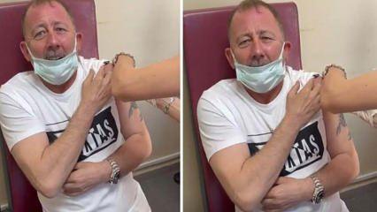 Koronavirüs aşısı olan Sergen Yalçın'ın verdiği komik tepkiler sosyal medyada gündem oldu