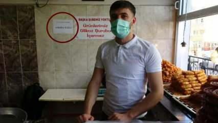 Mardin'de bir tatlıcı askıda tatlı kampanyasıyla ihtiyaç sahiplerine ulaşıyor!