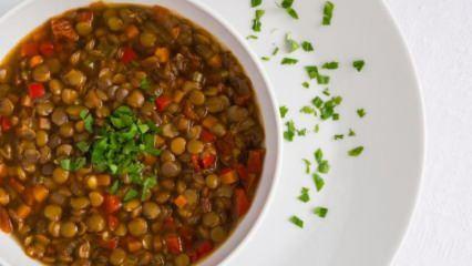 Yeşil mercimek çorbası kilo aldırır mı? Düşük kalorili mercimek çorbası tarifi