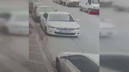 Otomobile balıklama atlayan hırsız hayrete düşürdü!