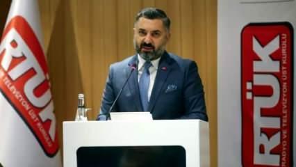 RTÜK Başkanı Şahin: Eşcinselliği özendirmelerine izin vermeyeceğiz